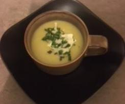 Indian Parsnip Soup with Coriander Sambal