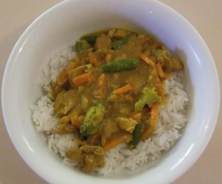 Basic Mango Chicken Curry