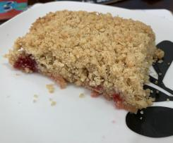 family sized Apple and raspberry crumble