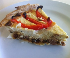 Bacon, Ricotta & Roast Capsicum Quiche