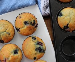 Low Sugar Blueberry and Yogurt Muffins