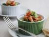 Poached egg pots with smoked salmon avocado salsa