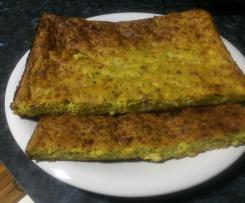 Sweet Potato, Zucchini and Bacon Slice