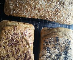 Grain-free herb and sesame bread - Kyra Miles