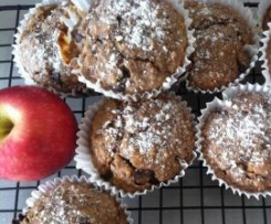 Pink Lady Apple and dark chocolate chips muffins