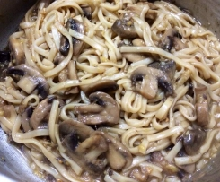 Stir Fried Mushroom and Egg Noodles