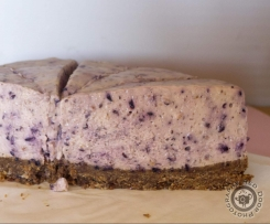 Blue Berry White Chocolate Cheesecake