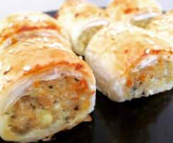 Chicken, Cheese & Vegetable Sausage Rolls