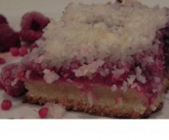 Raspberry and Coconut Slice