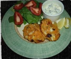 Salmon and kumara patties