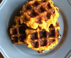 Sweet Potato, Cheese & Bacon Waffles