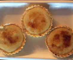 Quince Brulee Tart