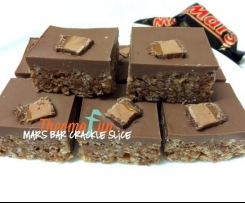 Mars Bar Crackle Slice