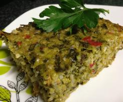 Silverbeet and Rice Bake