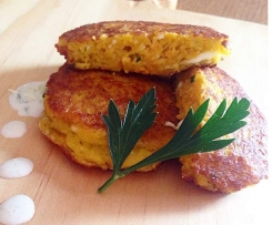 Sweet Potato, Sweet Corn and Haloumi Patties