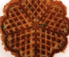 lchf cheese spinach waffle