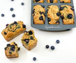 Healthy Blueberry Muffin Bars