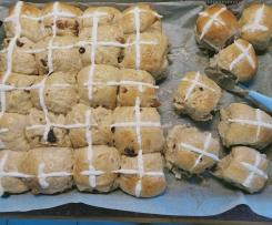 Hot Cross Buns with plain flour