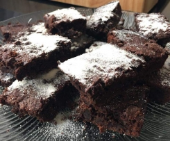 Black Bean Peppermint Brownies