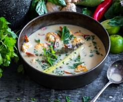 Sweet and sour prawn and coconut soup - Fouad Kassab