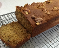 Healthy Low Fat Banana Walnut Bread