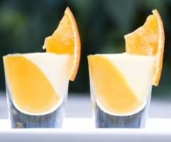 Mandarin Créme with Almond Panna Cotta