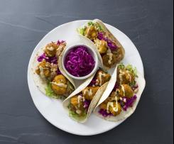 Cauliflower tacos with chipotle sauce