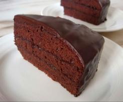 Super moist cacao chocolate cake