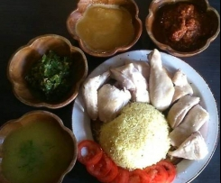 Hainanese Chicken Rice (Chinese Poached Chicken - Varoma Steamed)
