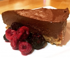 No bake Chocolate Avocado Cheesecake