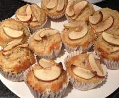 Sugar Free Apple and Banana Muffins