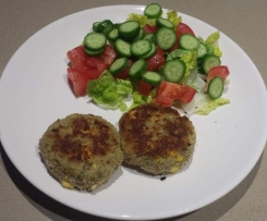 Tuna and corn patties