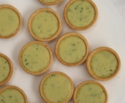 White Chocolate, Lime and Basil Tarts