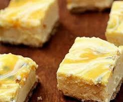 No Bake Passionfruit cheesecake slice