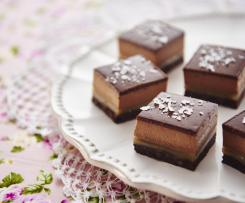 Chocolate salted caramel petit fours