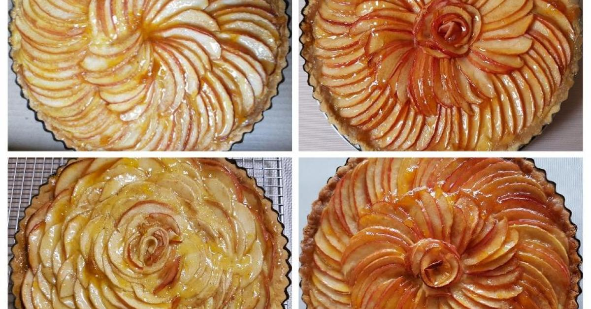 French Apple Tart With Pastry Cream By Tracytan A Thermomix Sup Sup Recipe In The Category Desserts Sweets On Www Recipecommunity Com Au The Thermomix Sup Sup Community