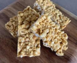 Peanut butter and popcorn muesli bars