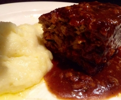 Meatloaf with homemade BBQ Sauce