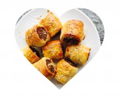 Lamb and feta sausage rolls