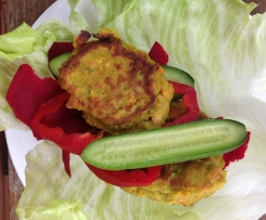 Chick Pea, Zucchini and Carrot Fritters