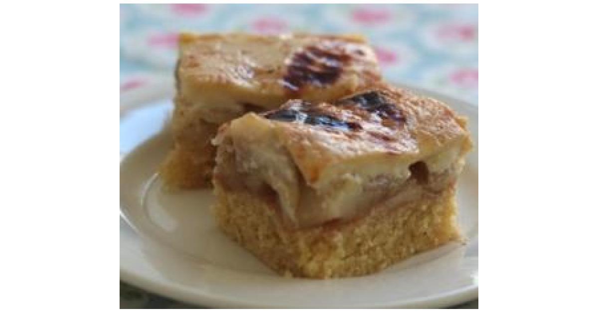 Apple Vanilla Custard Cake Thermomix
