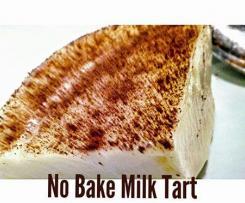 Crustless No Bake Milk Tart