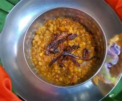 Masoor dal, red lentil curry