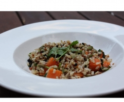 "Brown Rice, Quinoa, & Pumpkin Salad ""Solar Springs"""