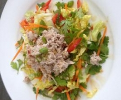 Asian Coconut Poached Chicken Salad