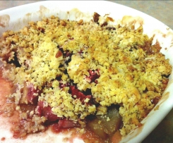 Apple and Plum Crumble