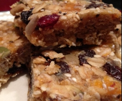 "Gluten and sugar free ""Birdseed"" Muesli Bars"
