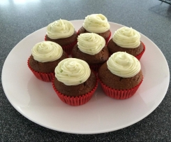 Carrot Cupcakes with Lime Cream Cheese Frosting