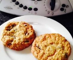 oat, spelt and choc chip cookies