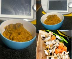 Slow cooked Curried Sausages - with hidden veggies